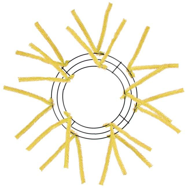 10 20 Tinsel Work Wreath Form Yellow Xx167829 Work Wreath Forms Pencil Work Wreath Work Wreath