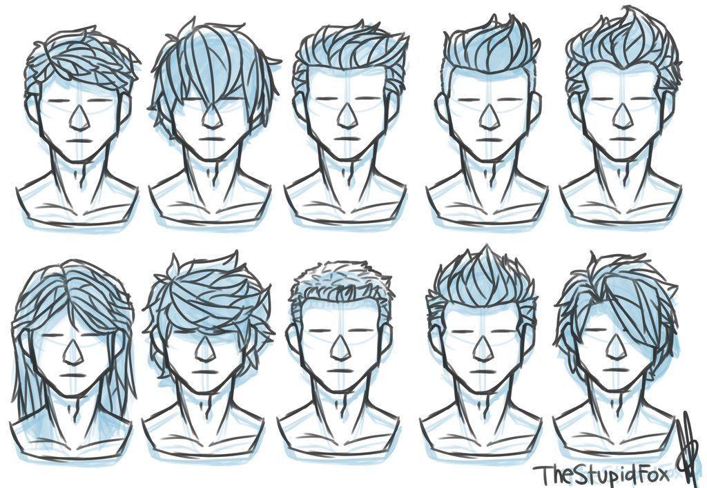 Hairstyles Drawing Male In 2020 Drawing Hair Tutorial Drawings Pinterest Drawing Male Hair