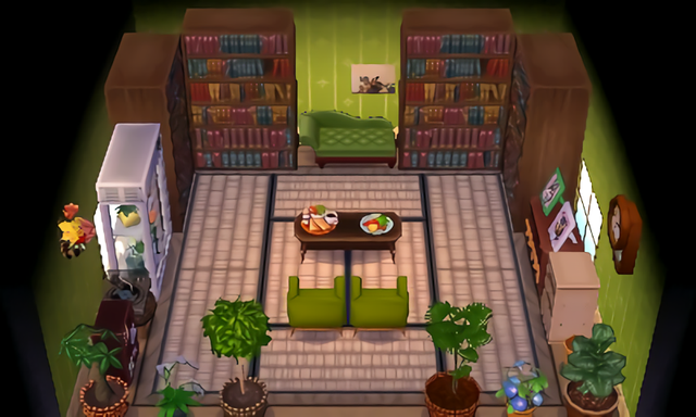 My Living Room Forest Of Books Animalcrossing Animal