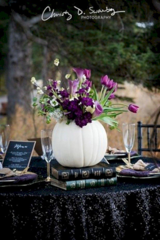Lilac wedding decoration ideas   Stunning Halloween Wedding Table Settings Ideas