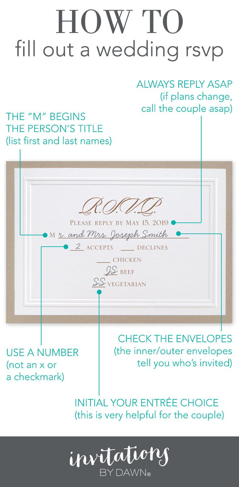 How to Fill Out an RSVP Wedding Planning Bridal
