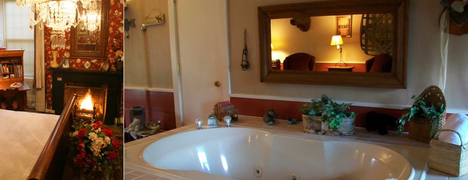Jacuzzi Fireplace Rooms In Romantic B B In Michigan Hot Tub Room Bathroom Jacuzzi Tub
