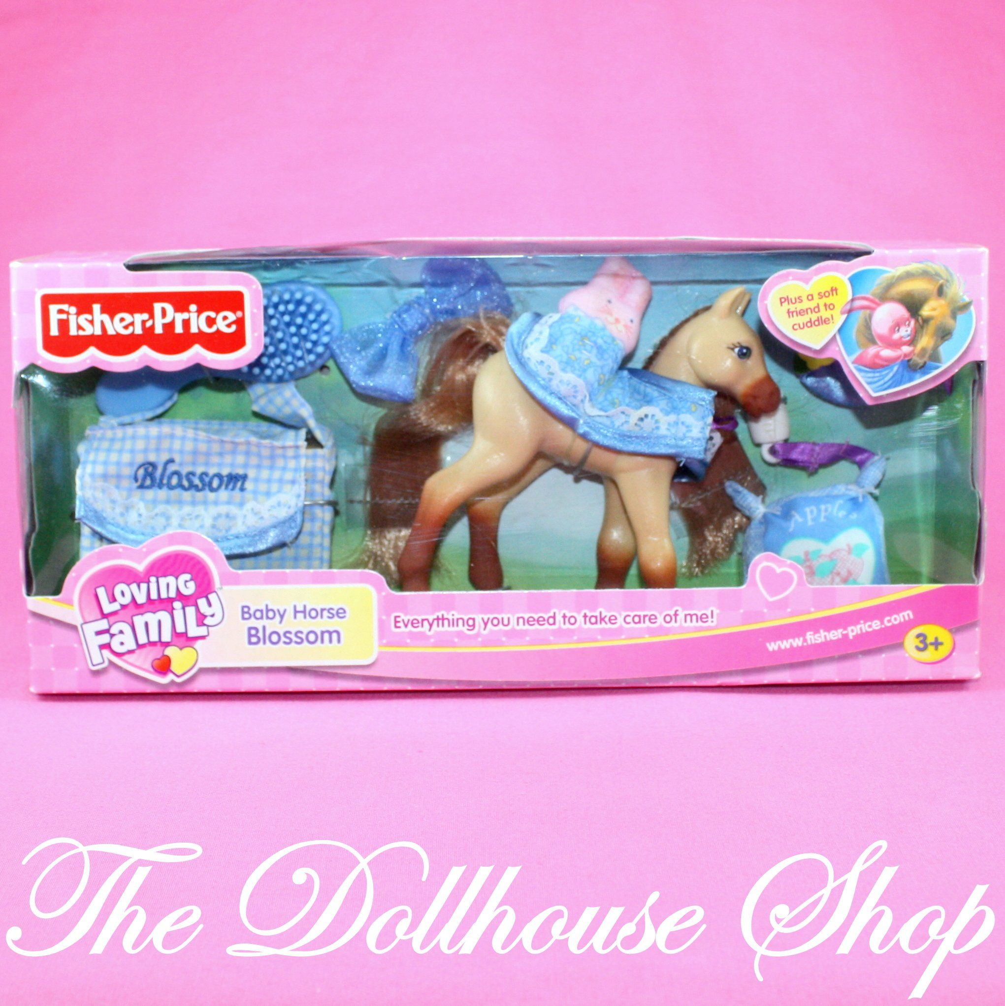 New Fisher Price Loving Family Dollhouse Stable Baby Horse