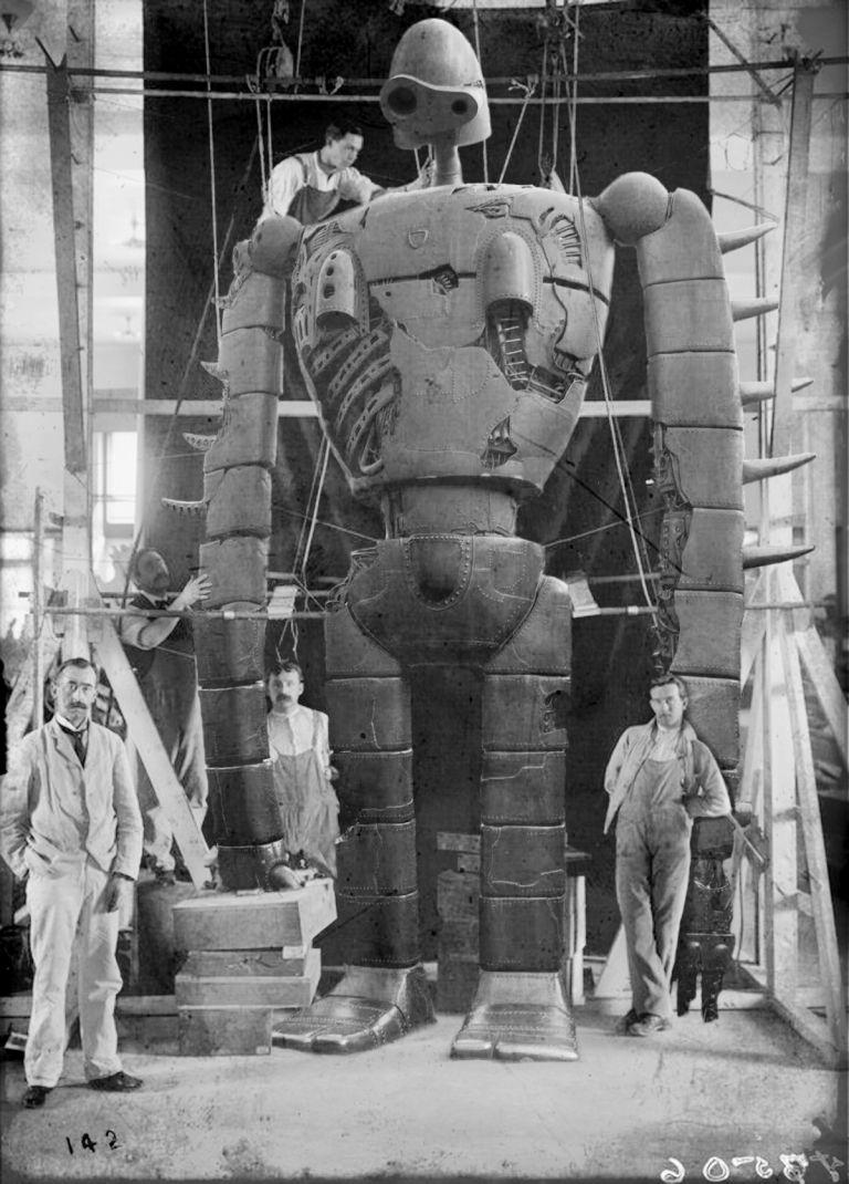 17506 Tif ジブリ ヴィンテージのロボット イラスト