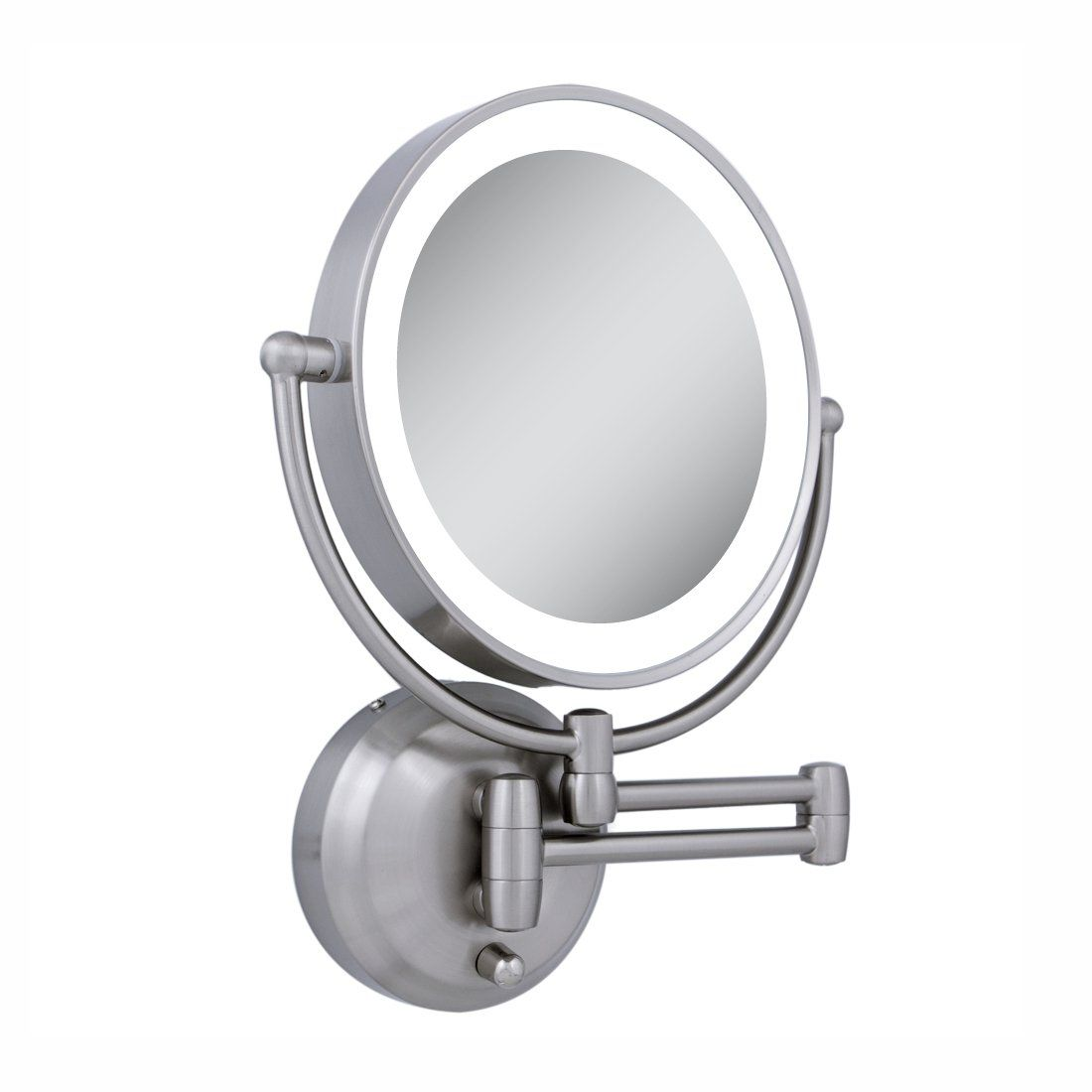 Wall Mounted Extendable Lighted Mirror Bathroom