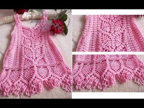 Crochet Patterns| for free |crochet baby dress| 1443 | Recetas que ...