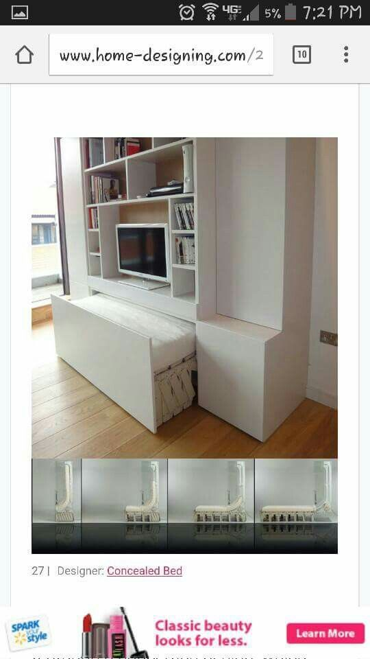 Exceptionnel Concealed Bed