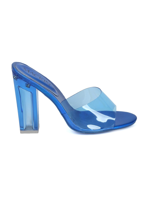3eb61a8e216 Shoes MACKINJ HH03 Women Perspex Open Toe Chunky Heel Slip On Sandal ...