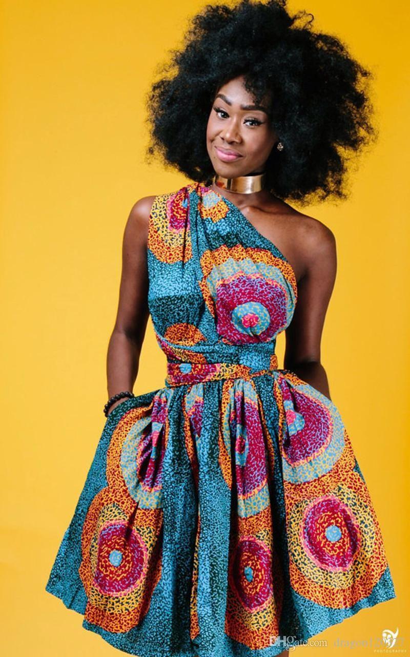 Dashiki Africa Bazin Riche Wax Print Dresses Sexy Summer Off Shoulder African  Print Clothing For Women Back Cross Ankara Dress Vestidos f81efa45402a