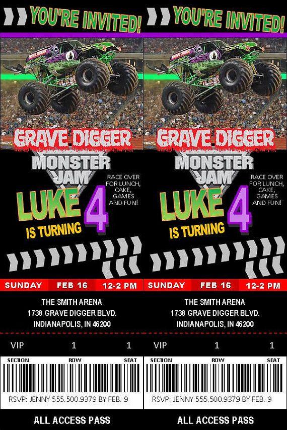 grave digger monster jam birthday