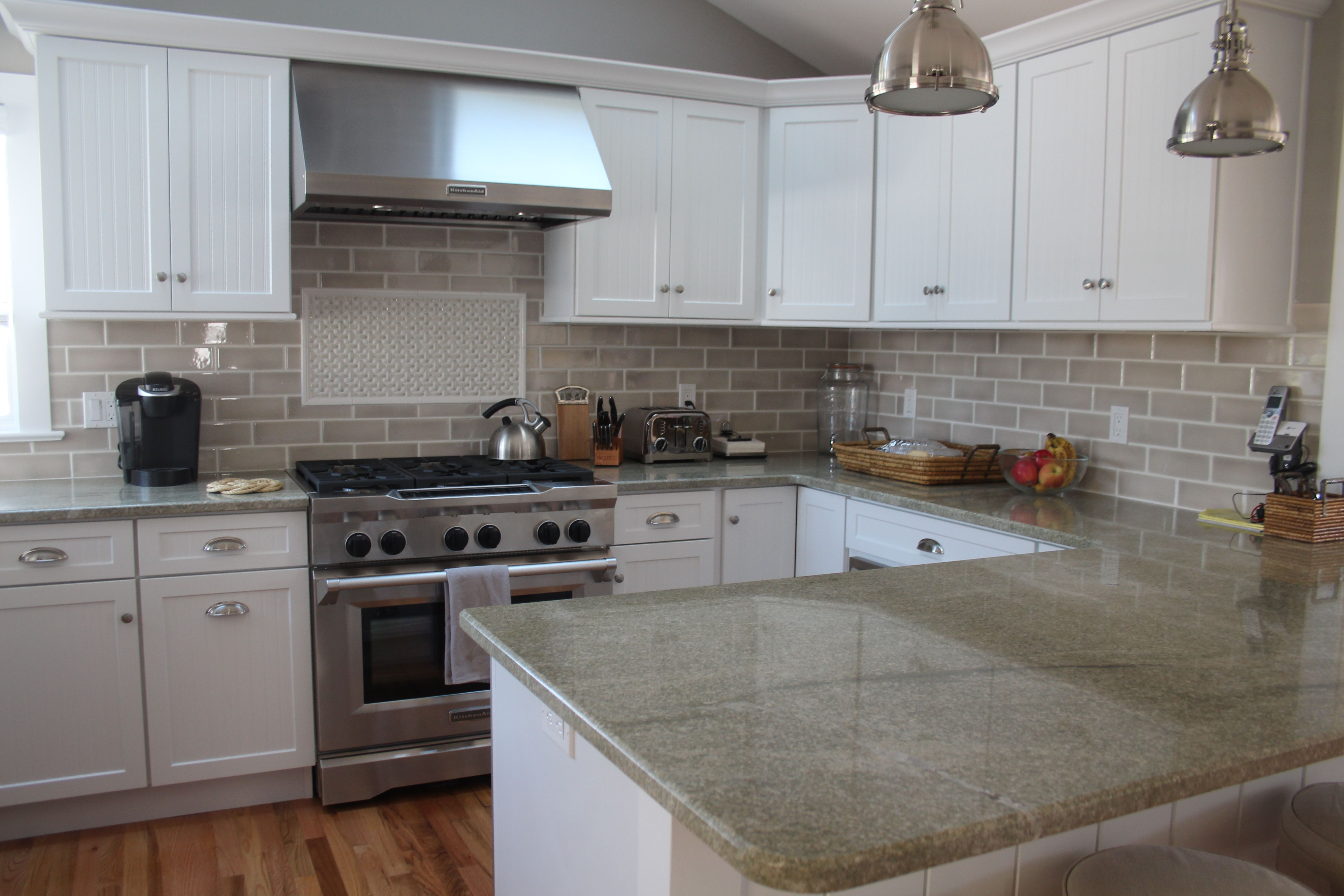 Discount Granite Countertops Nj This Kitchen Features Coast Green Granite Countertops And
