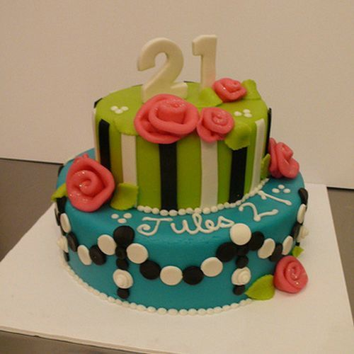 Flowers 21st Birthday Cakes For Girls Girls Birthday Cakes