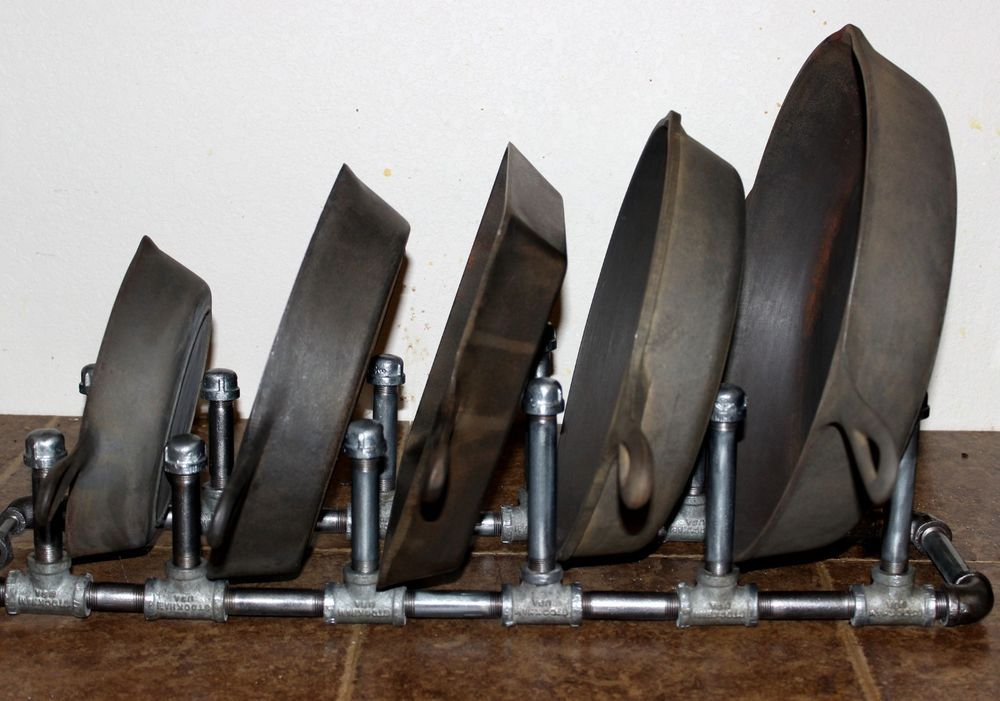 Details About Cast Iron Skillet Cookware Display Stand
