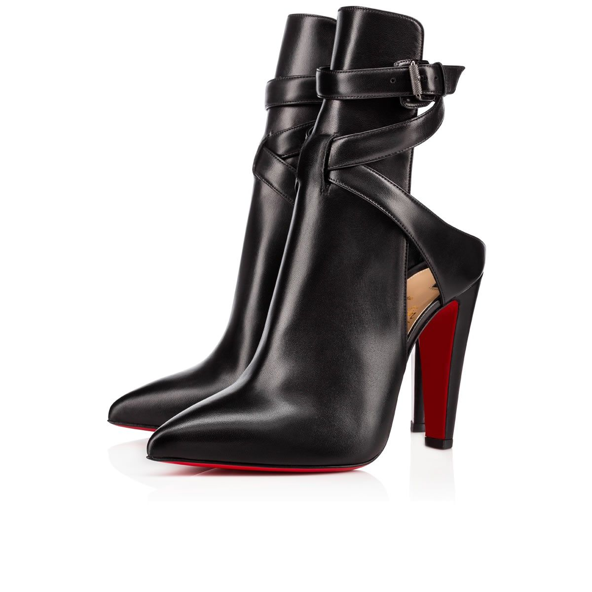 Christian Louboutin Nappa 100 Shiny Leather Booties jkxnTqAtD
