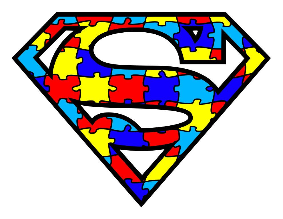 Autism Awareness Puzzle Pieces Superhero Logos Svg Pdf Png And Dxf Files In 2021 Autism Tattoos Autism Logo Autism Awareness