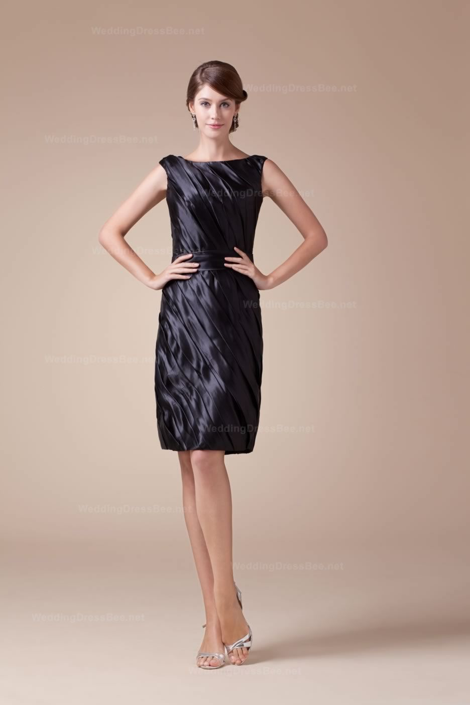 Cocktail dresses for wedding reception  Its great  Wedding Party  Pinterest  Elastic satin Ruffles and Satin