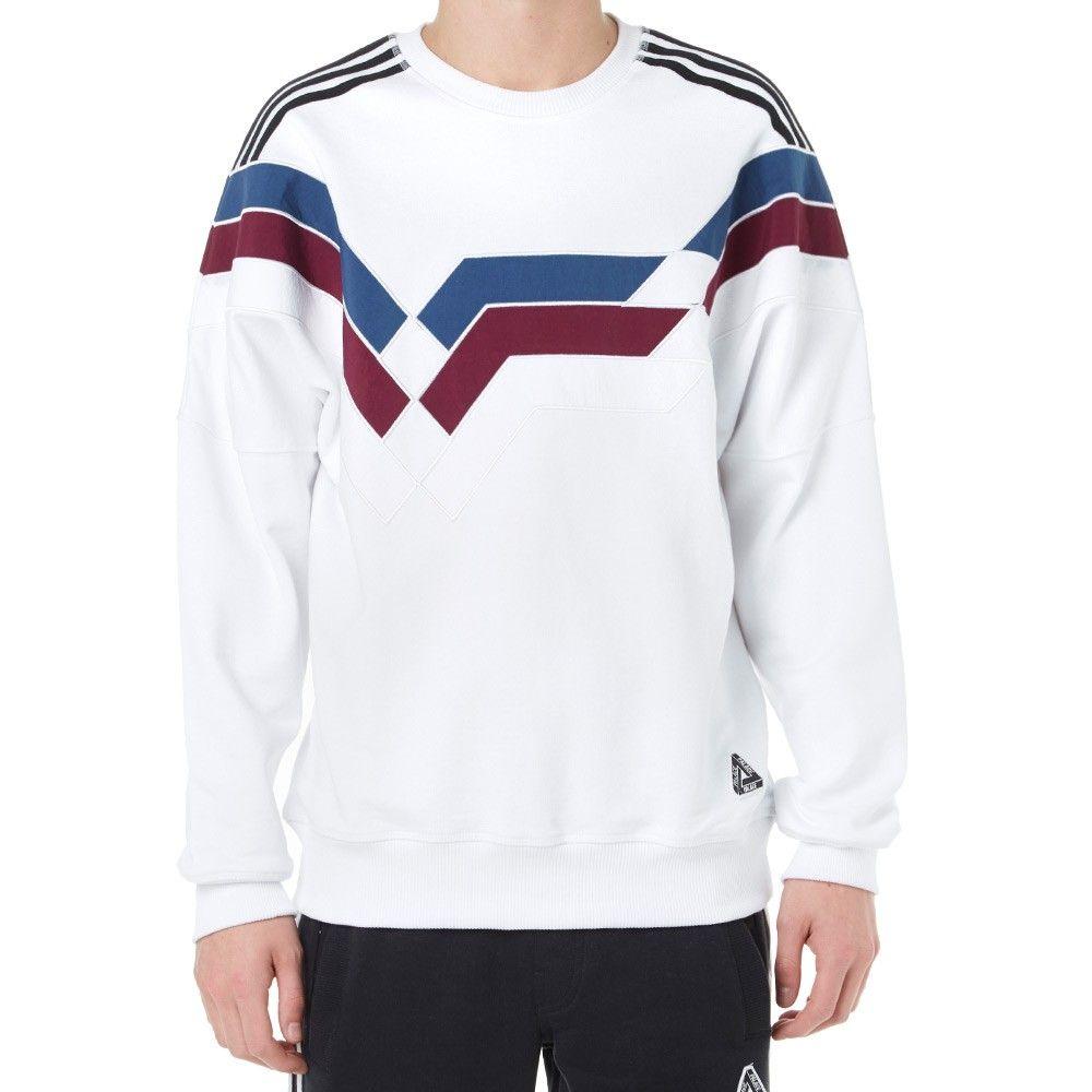 Adidas X Palace Stripe Crew Sweat Stripe Adidas Sweatshirts [ 1000 x 1000 Pixel ]