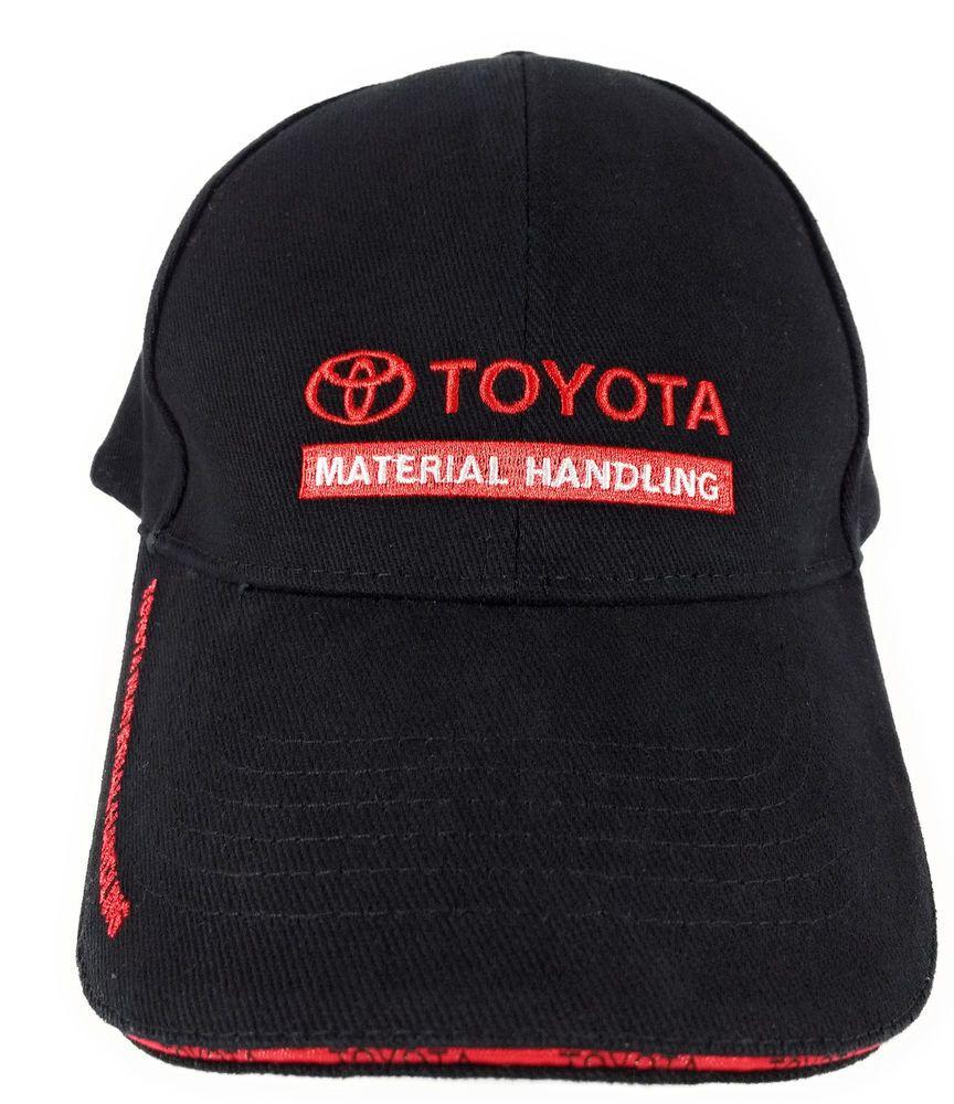 37f0cc466b6 Toyota Material Handling HAT AU Black w Red Lettering Logo  Toyota   BaseballCap