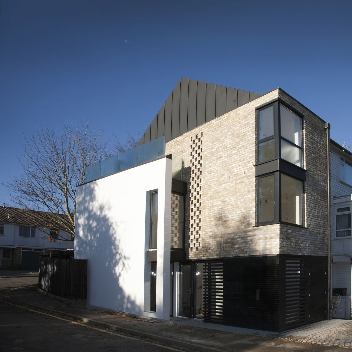 Contemporary Modern House Wimbledon London Brick White