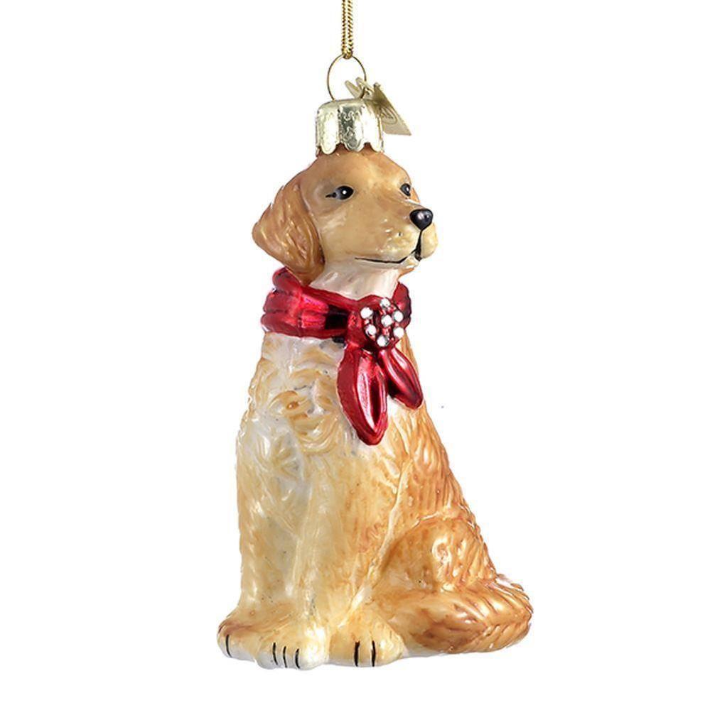 Kurt Adler Noble Gems Glass Golden Retriever Dog Christmas Tree