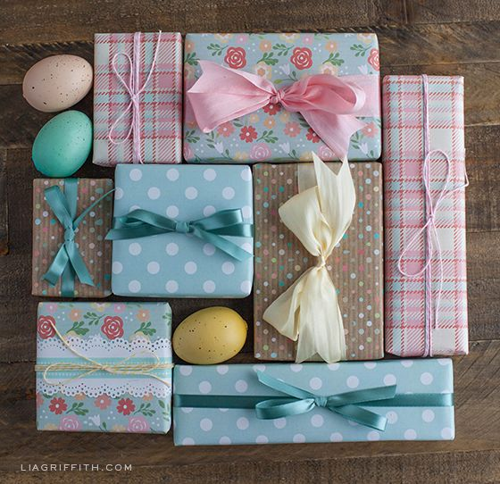 Printable easter gift tags and gift wrap easter wraps and gift free printable easter gift wrap negle Image collections