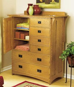 Arts And Crafts Dresser Woodworking Plan From Wood Magazine Dresser Woodworking Plans Mission Furniture Dresser Plans
