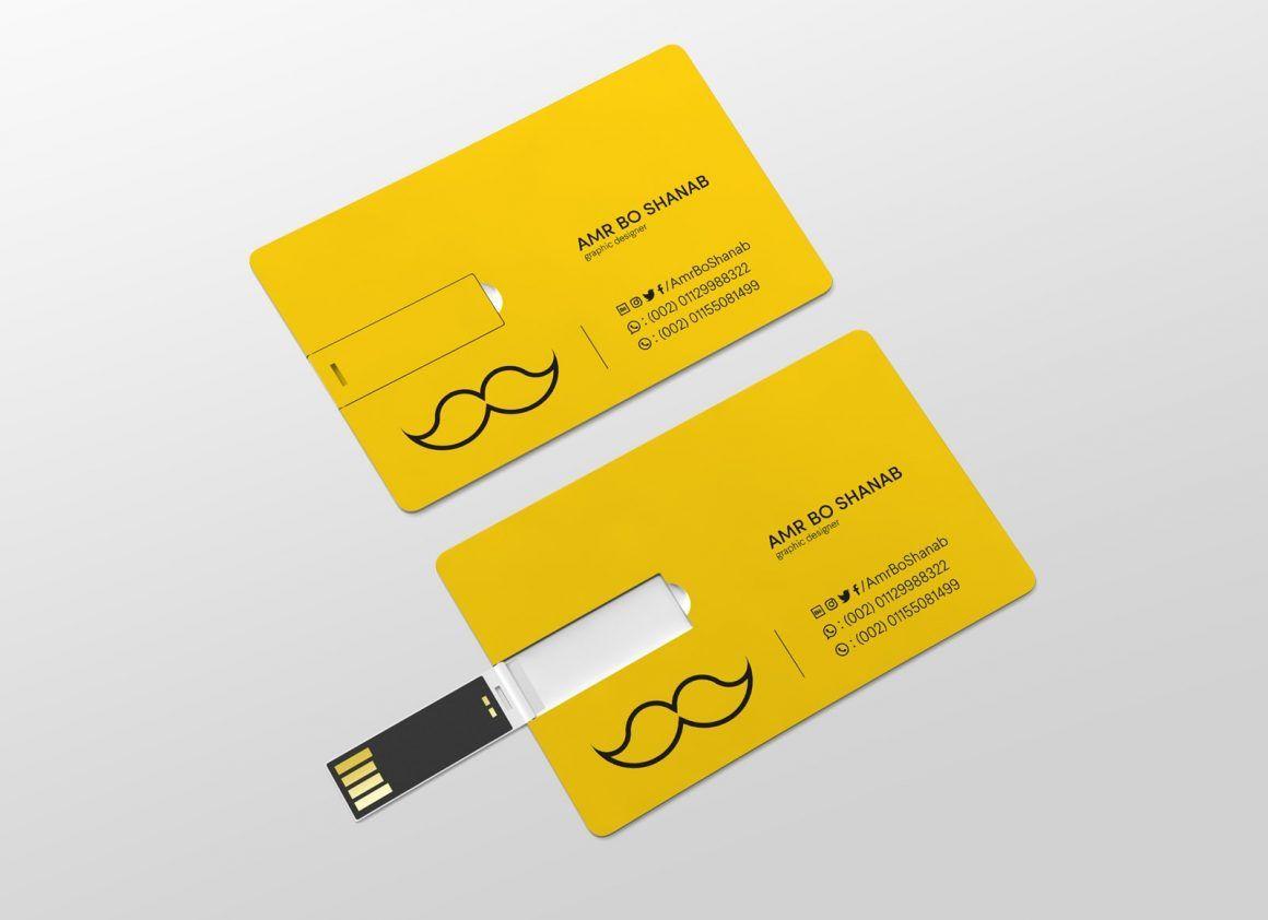 Free Usb Business Card Mockup Psd Business Card Mock Up Business Cards Mockup Psd Usb Business Cards