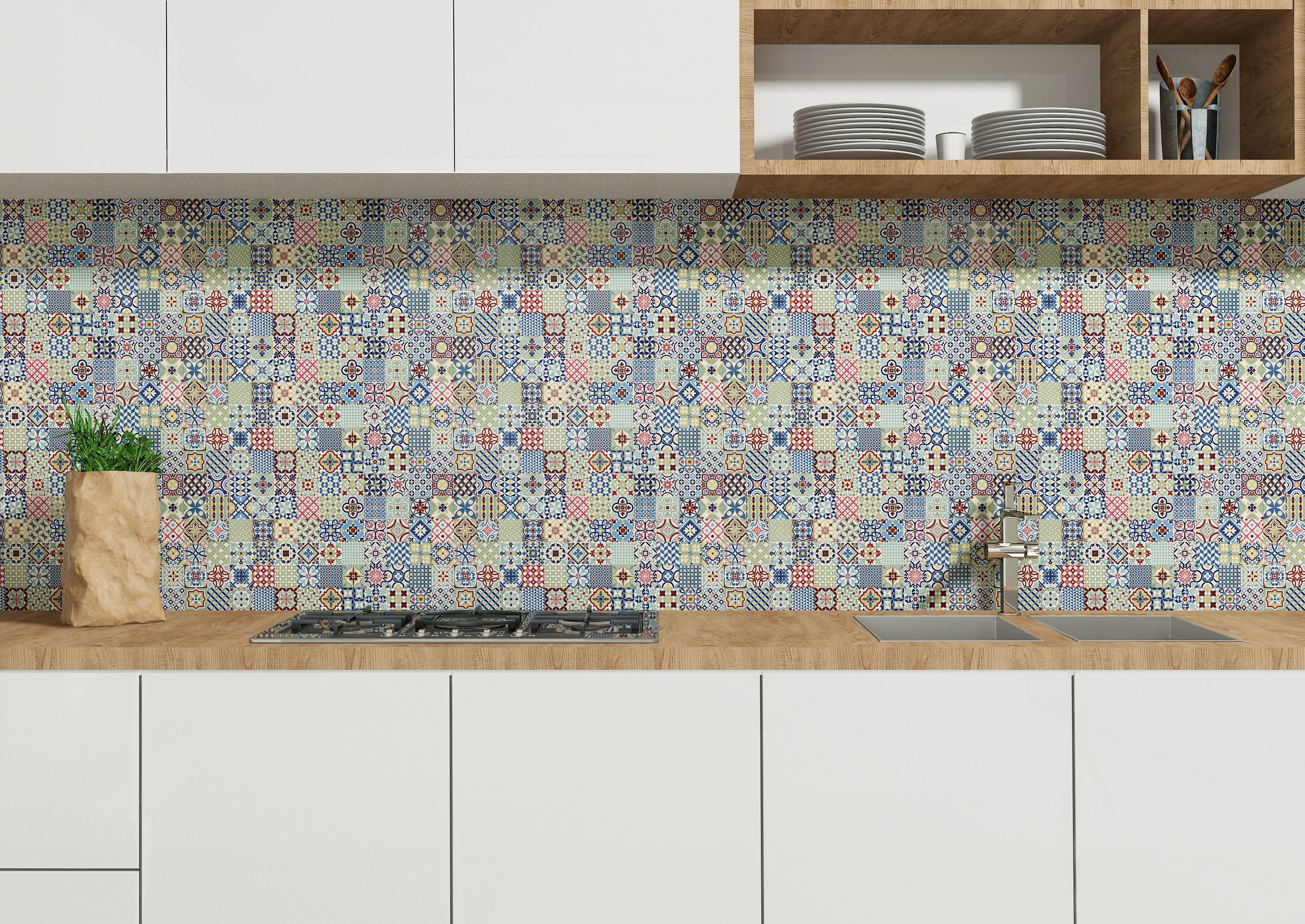 Deco Heritage Mix From Tiles On Bradman Kitchens Kitchen