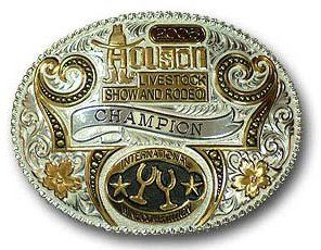Amateur wrestling belt buckles
