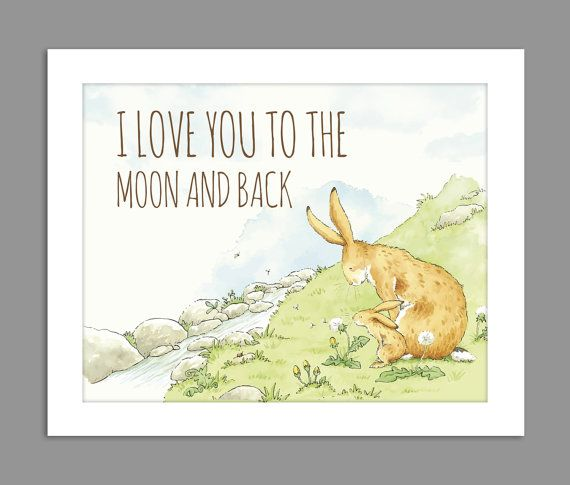 Digital Download I Love You To The Moon And Back By