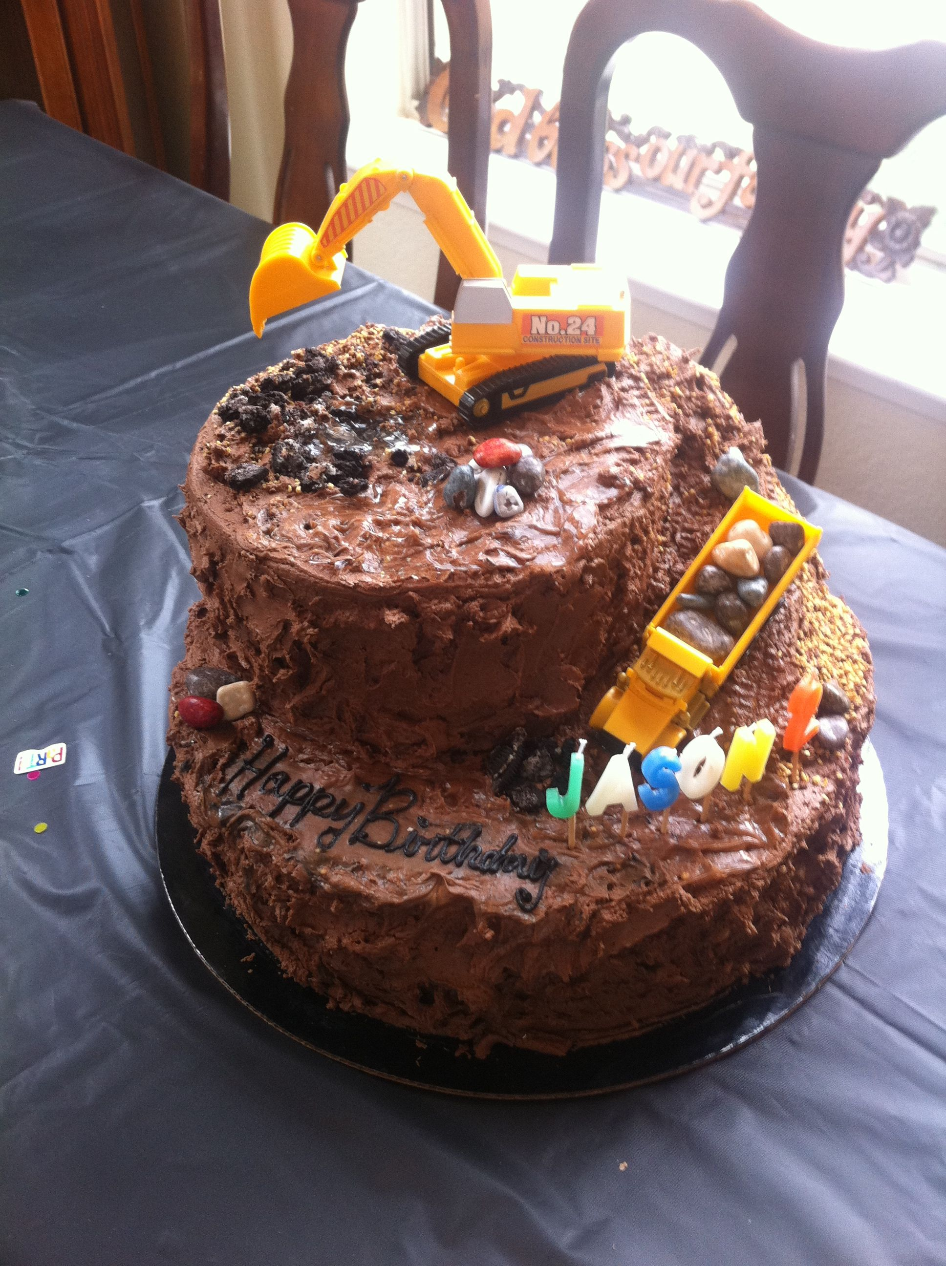 Little Boys Dirt Cake With Images Kids Cake First Birthday