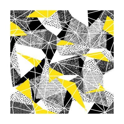 Geometric Seamless Pattern in Retro Style. Vintage Background.Triangles and Hand Drawn Patterns. Lo Art Print by pashabo at Art.com