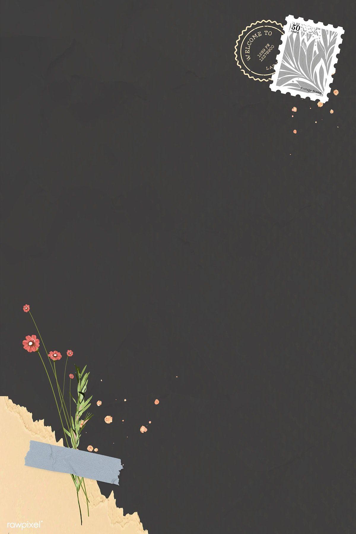 Download Premium Vector Of Red Flower On Dark Background