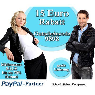 15EUR Gutschein + gratis Versand bei Lederjacken24.de