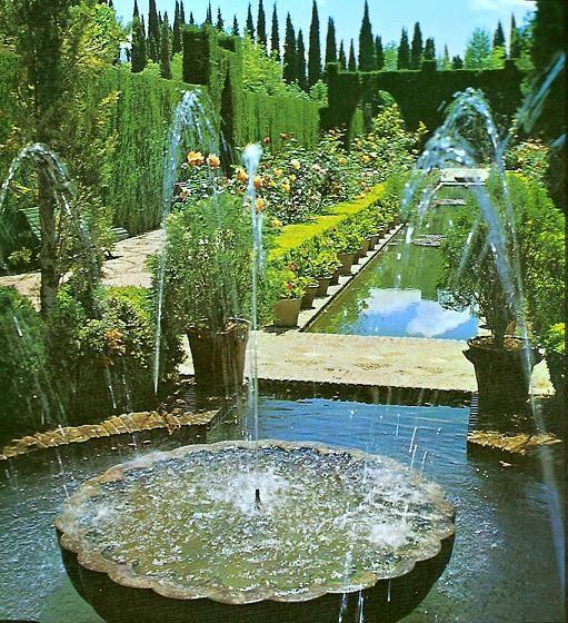 Alhambra Sage Granada Park Alhambra Ca: Generalife Gardens :::: Granada, España. These Gardens