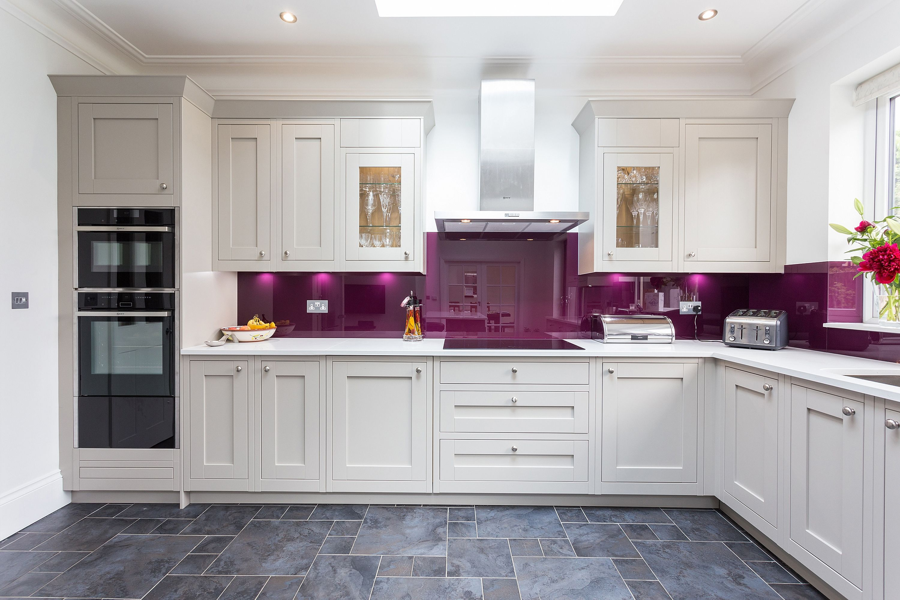 aubergine kitchen tiles second nature milton in frame kitchen in with bold 1386