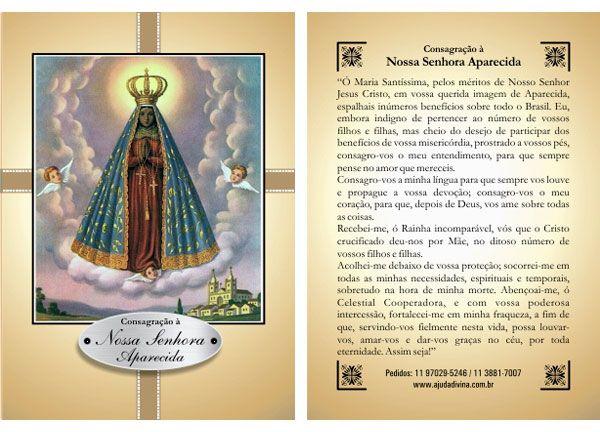 Oração Da Noite Nossa Senhora Aparecida Rogai Por Nós: Pin By Cláudia Lireda On Nossa Senhora