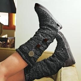 Layered Sweater Boots