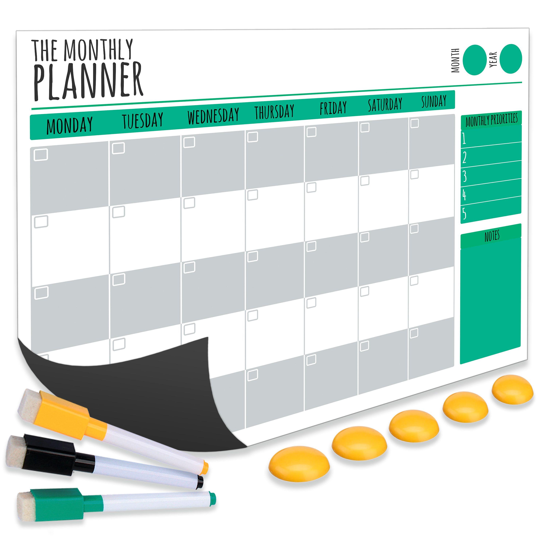 Magnetic Monthly Calendar For Refrigerator : Amazon magnetic calendar for fridge dry erase whiteboard