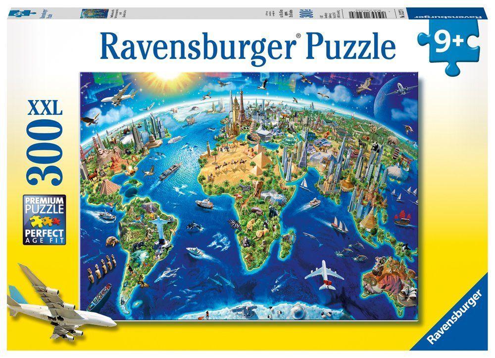 Ravensburger world landmarks map 300 pc large format jigsaw world landmarks map 300 pc puzzle gumiabroncs Gallery