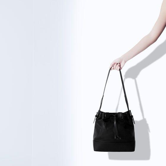 ZARA - WOMAN - DRAWSTRING BUCKET BAG