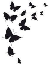 Envol de papillons piercing et tatouage pochoir silhouette cam o et papillon - Silhouette papillon imprimer ...