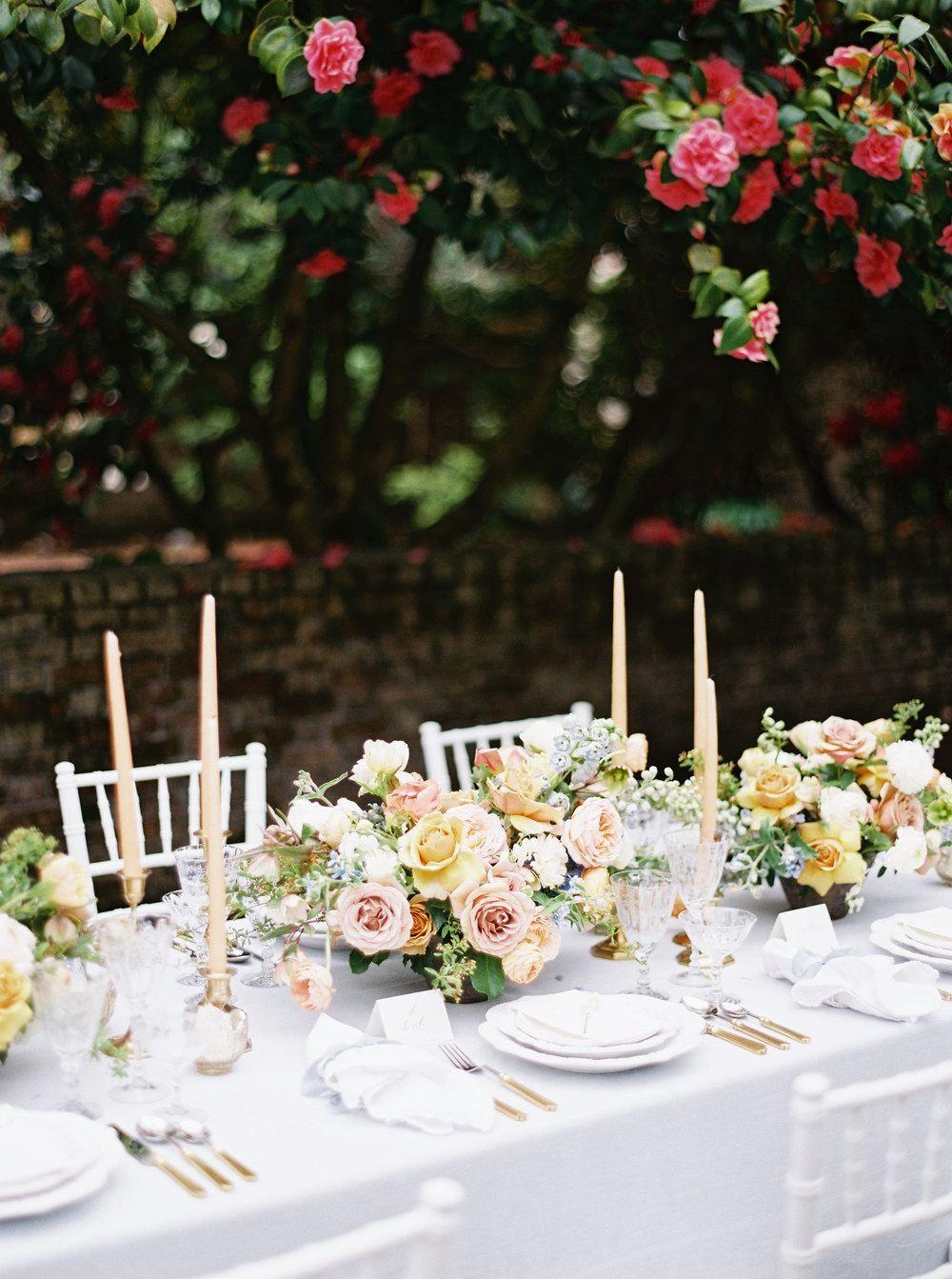 OldFashioned English Rose Garden Wedding Inspiration
