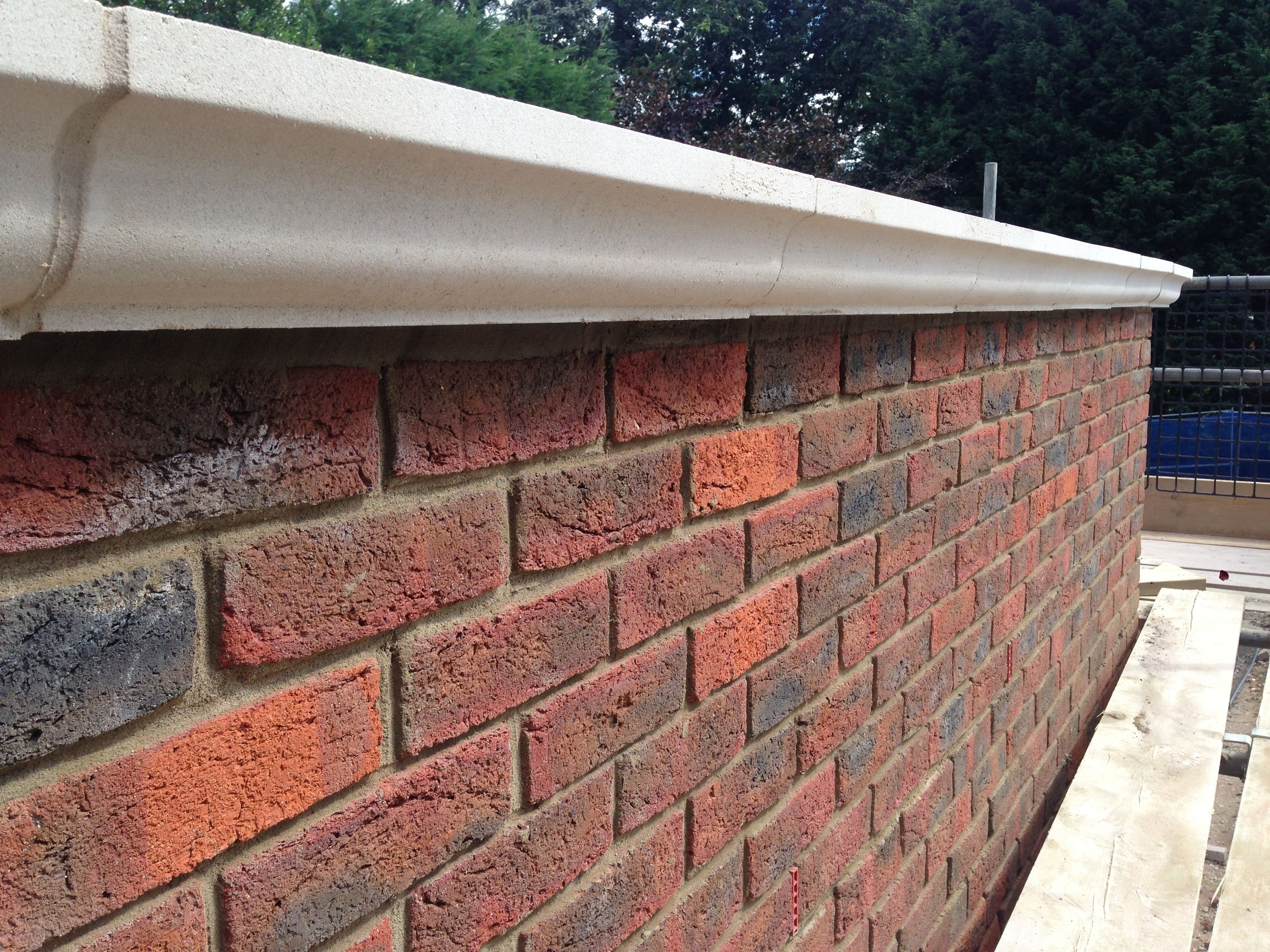 Parapet Wall Topped With Coping Stones Rendering