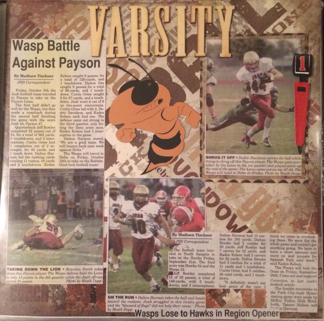 Scrapbook ideas newspaper articles - Scrapbook Ideas Newspaper Articles Sports Scrapbook Scrapbook With Newspaper Clippings Football Scrapbook Layouts