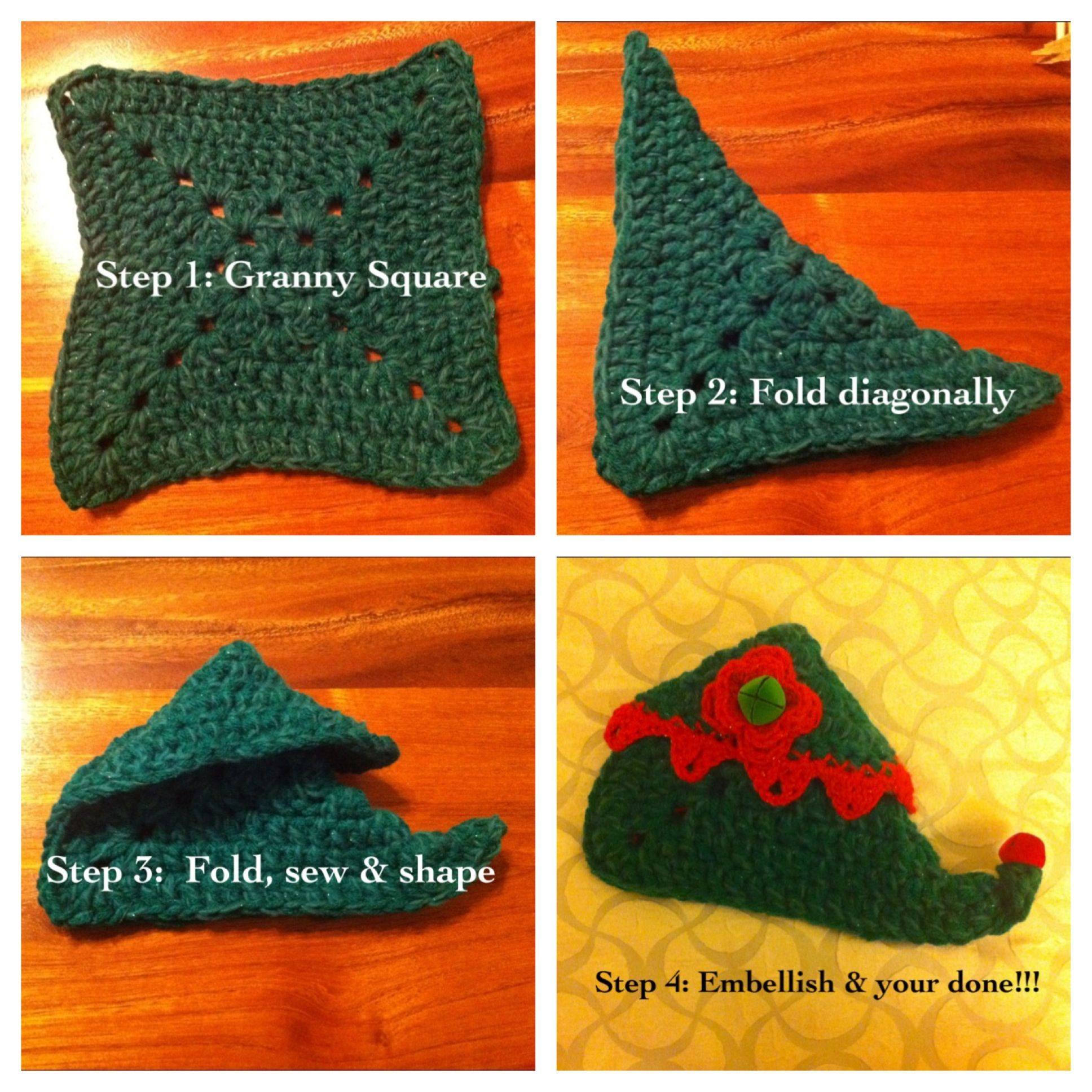 DIY - Elf Slippers from a knit or crochet square! (By Cass Knuckles ...