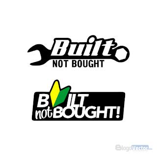 Built Not Bought Logo Vector Cdr Vector Logo Buy Logo Vector