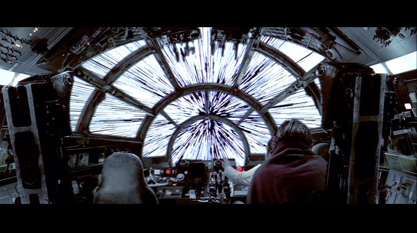 Inside The Millennium Falcon Shifted Starlines Visible