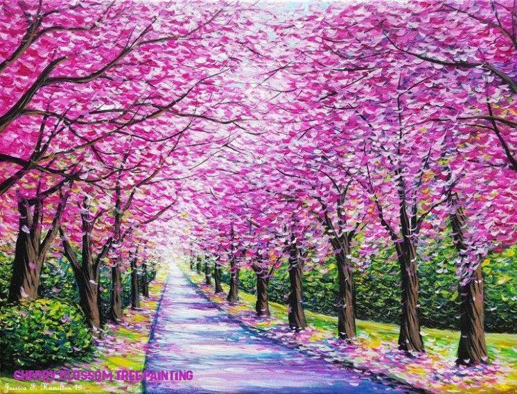 12 Reasons Why Cherry Blossom Tree Painting Is Common In Usa Cherry Blossom Tree Paintin Cherry Blossom Painting Acrylic Cherry Blossom Painting Blossoms Art