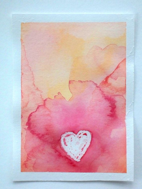 Watercolor Valentines Day Card By Thenextbird On Etsy 3 50